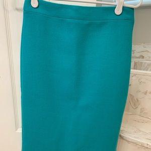 J crew teal wool no 2 pencil skirt size 00